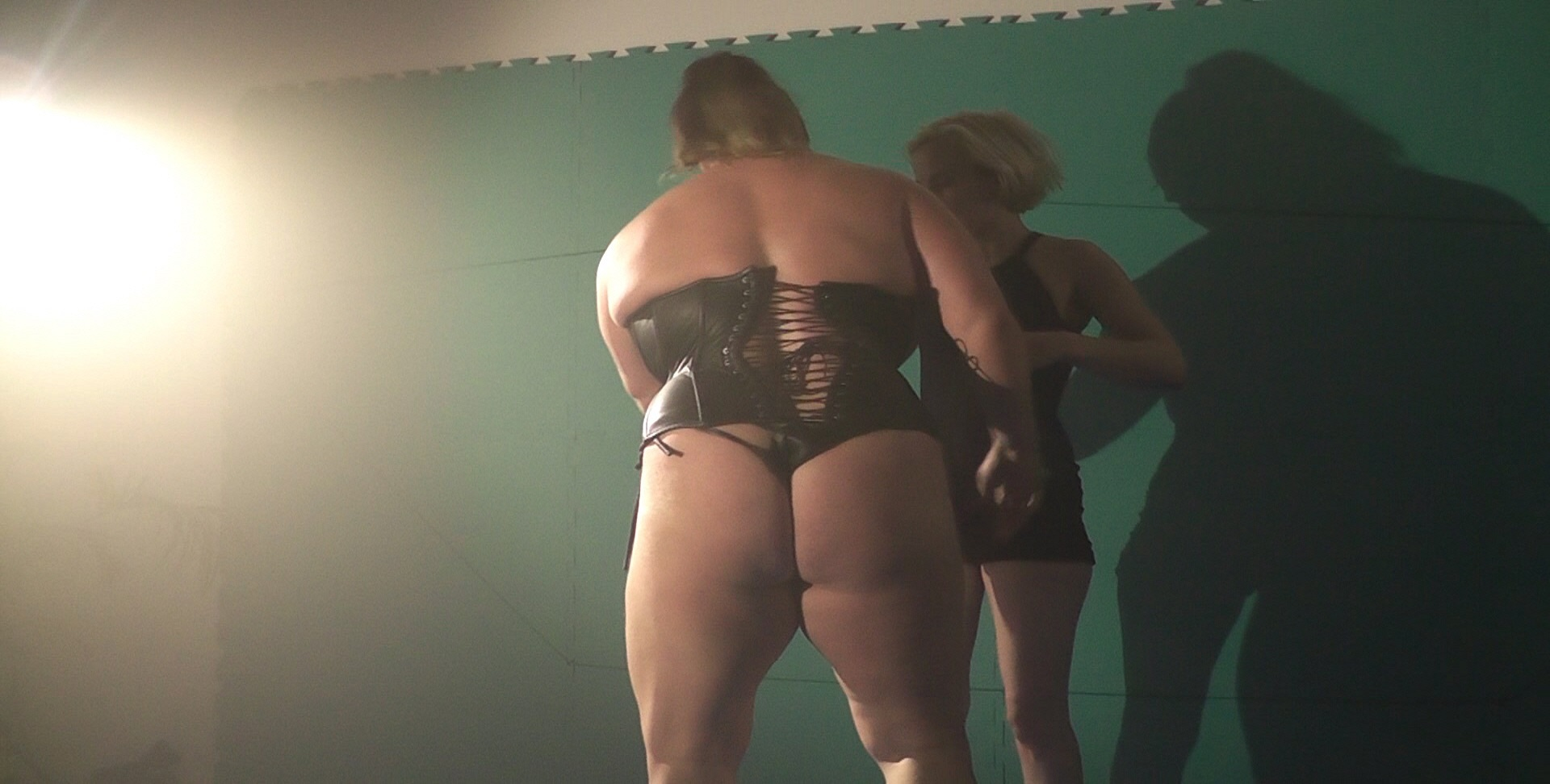 The strong muscle girls wrestling domination