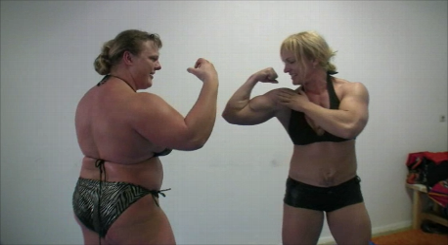 Anna Konda vs Shawna Pierce Strongwoman vs Female Bodybuilder